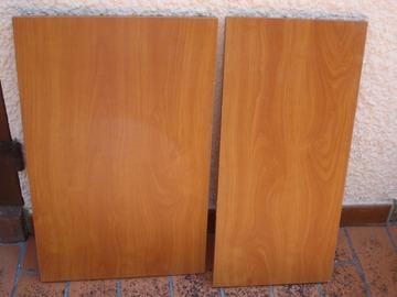 Vente: 2 planches pour étagères, couleur merisier