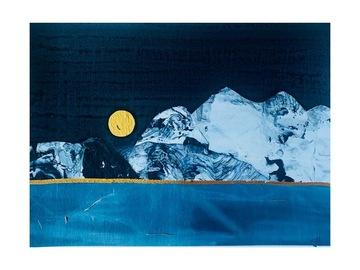 Sell Artworks: Dark Night Ice Lake