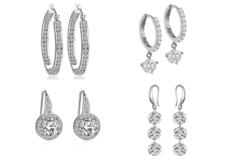 Liquidation/Wholesale Lot: 12 pair Our Best Sellers of Swarovski Elements Jewelry Earrings