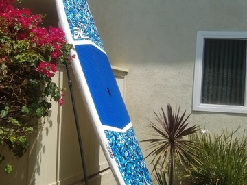 """For Rent: 11""""5' DuraSUP by Hobie + adjustable two piece paddle + leg strap"""