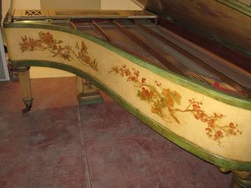 Vente: Piano Erard peint de 1849 - Fonctionnant - Bon état - Superbe
