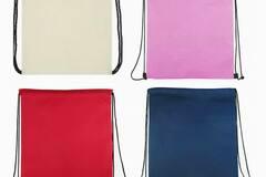 Liquidation/Wholesale Lot: Bulk Buy – Non-Woven Drawstring Cinch Backpack Bag Assorted Color