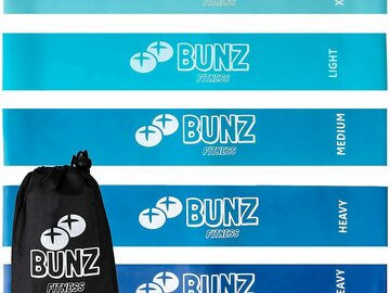 Liquidation/Wholesale Lot: Bunz Fitness Booty Band 5-Pack–Thick Booty Bands Resistance Bands