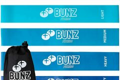 Liquidación / Lote Mayorista: Bunz Fitness Booty Band 5-Pack–Thick Booty Bands Resistance Bands