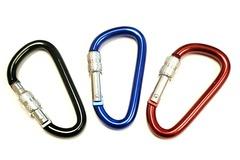Liquidation/Wholesale Lot: Bulk Lot – Premium Aluminum 2.5″ Screw Locking Carabiner – Asst C