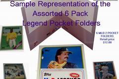 Liquidation/Wholesale Lot: 6 Pack Assorted Topps MLB Baseball Legends Dual Pocket Folders –