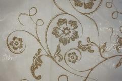Ilmoitus: Kultakuvioista organza-kaitaliinaa pätkinä