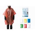 Liquidación / Lote Mayorista: Emergency Disposable Plastic Rain Ponchos With Drawstring Hood