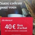 Vente: Bon d'achat VinRoyal.fr (40€)