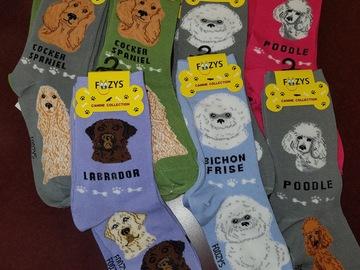 清算批发地: Foozies Canine Socks. 17 pair assorted