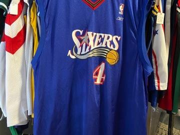 Selling A Singular Item: Vintage Reebok Mens XXL Philadelphia Sixers Chris Webber Jersey