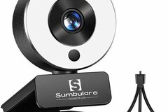 Liquidation/Wholesale Lot: 2K Ultra HD Streaming Webcam, Sumbulare Webcam With Microphone,
