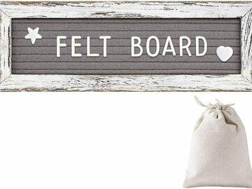 清算批发地: *** SALE***Tukuos Felt Letter Board With Rustic Wood Frame
