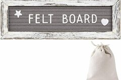 Liquidation / Lot de gros: *** SALE***Tukuos Felt Letter Board With Rustic Wood Frame