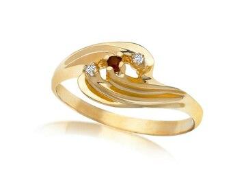 清算批发地: 12 pcs -Genuine Diamond & Ruby Rings Assorted Sizes 6 thru 10