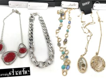 清算批发地: 50 Pieces- Charming Charlie Necklaces Retail priced 24.99 -26.99