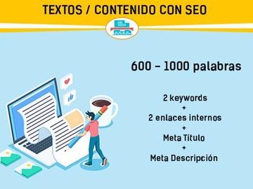 Servicio freelance: Textos con SEO de 600 palabras