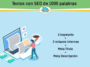 Servicio freelance: Textos con SEO de 1000 palabras