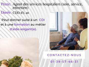 Offre: Recherche Agents des services hospitaliers