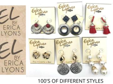Liquidation / Lot de gros: 200 PAIR Erica Lyons Earrings -Pre priced $19.99- $24.99 PAIR
