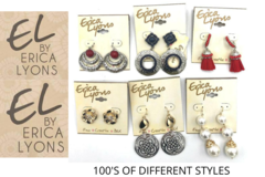 Liquidación / Lote Mayorista: 200 PAIR Erica Lyons Earrings -Pre priced $19.99- $24.99 PAIR