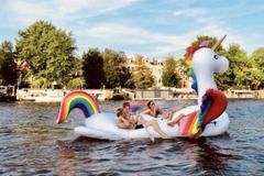 Rent per 2 hours: Unicorn Boat - max 4 people