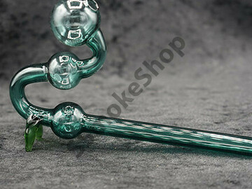 Post Now: Water Dog Glass Oil Burner Pipe Color with Feet 7 inches