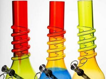 """Post Now: 10"""" acrylic water pipe"""