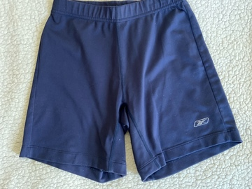 Selling with online payment: Reebok Blue Cycling Shorts