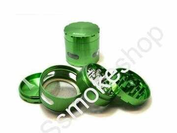 Post Now: Four Piece 2.5″ Pollen Herb Grinder With chamber Side Window