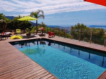NOS JARDINS A LOUER: location jardin et piscine avec vue mer