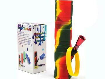 """Post Now: 7.8"""" Foldable Silicone Camouflage Bong"""