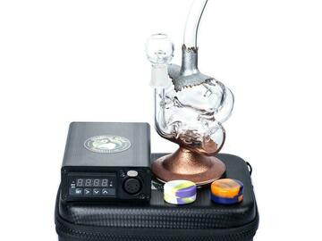 Post Now: Enail Dab Kit W/ Double Chamber Recycler Dab Rig Bundle