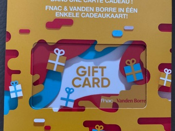 Vente: Cartes cadeaux Fnac x Vandenborre (1290€)