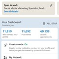 Make a post: I can optimise your LinkedIn profile to get more leads.