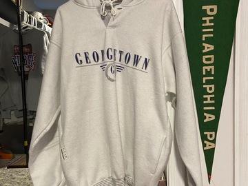 Selling A Singular Item: Vintage Gray Mens Large Georgetown Hoyas Pullover Hoodie