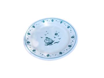Vente: Assiette à potage décor de bateau
