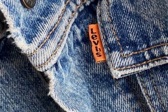Selling: Levis Orange Tab Denim Trucker Jacket Garrett Wash