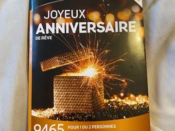 """Vente: Coffret Wonderbox """"Joyeux anniversaire de rêve"""" (74,90€)"""