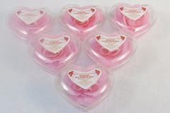 Sell: Heart Shaped Pink Rose Bath Soap Case lot of 192