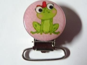 Vente au détail: Pince attache tétine grenouille - livraison gratuite