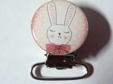 Vente au détail: Pince attache tétine lapin - livraison gratuite