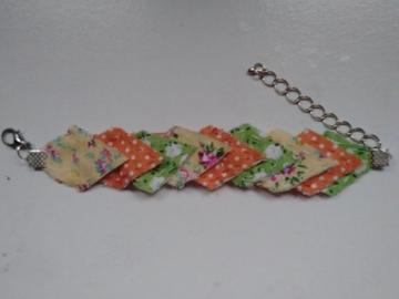Vente au détail: Bracelet imparfait jaune, orange et vert - livraison gratuite