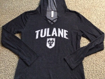 Selling A Singular Item: Tulane Hooded Pullover Shirt