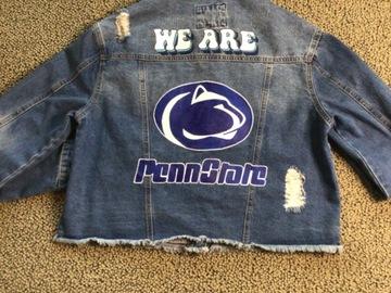 Selling A Singular Item: Penn State Distressed Jean Jacket