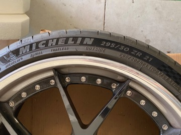 Selling: Set of 21in staggeredHRE high performance (S101) Wheels AND tires