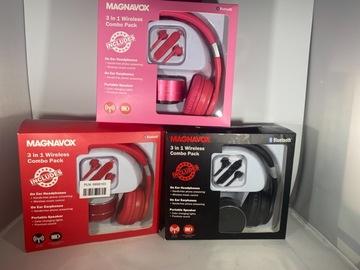 Liquidation/Wholesale Lot: Magnavox 3 in 1 Wireless Combo Pack Bluetooth Headphones Portable