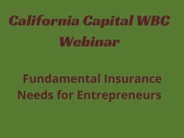 Announcement: Fundamental Insurance Needs for Entrepreneurs