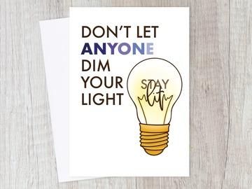 : Stay Lit Encouragement Card | Motivational, Positive, Friend