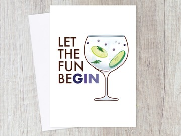 : Let the Fun BeGIN Alcoholic Friend | Party, New Beginnings